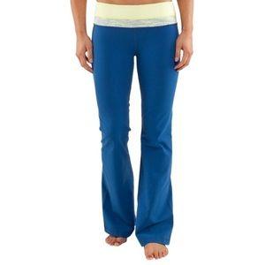 Lululemon / Blue Yellow Groove Flare Pants